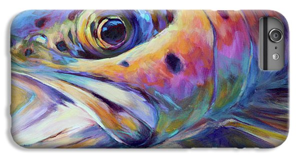 Face Of A Rainbow- Rainbow Trout Portrait IPhone 6 Plus Case by Savlen Art