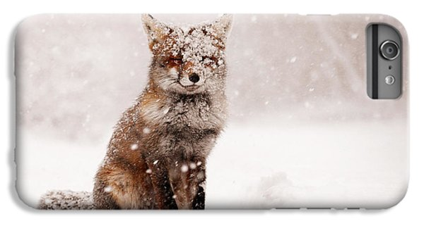 Fairytale Fox _ Red Fox In A Snow Storm IPhone 6 Plus Case by Roeselien Raimond