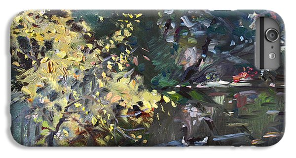 Geese iPhone 6 Plus Case - Fall By The Pond by Ylli Haruni