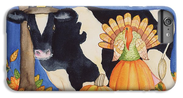 Fall Cow IPhone 6 Plus Case by Kathleen Parr Mckenna