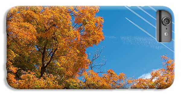 Jet iPhone 6 Plus Case - Fall Foliage With Jet Planes by Tom Mc Nemar