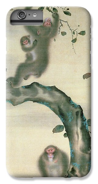 Family Of Monkeys In A Tree IPhone 6 Plus Case by Japanese School