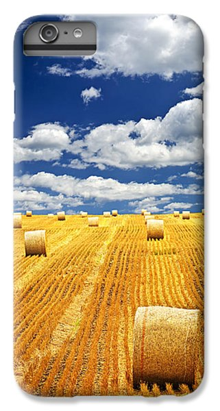 Beautiful iPhone 6 Plus Case - Farm Field With Hay Bales In Saskatchewan by Elena Elisseeva