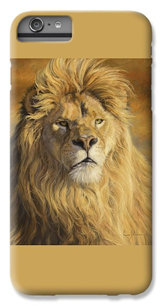 Lion iPhone 6 Plus Case - Fearless - Detail by Lucie Bilodeau