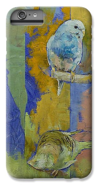 Parakeet iPhone 6 Plus Case - Feng Shui Parakeets by Michael Creese