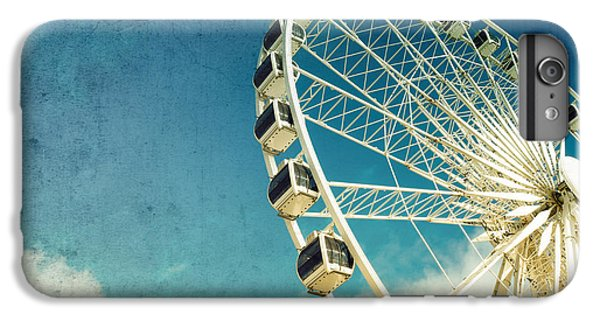 Blue iPhone 6 Plus Case - Ferris Wheel Retro by Jane Rix