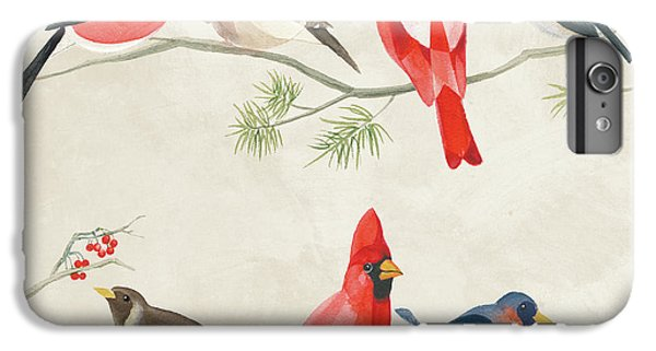 Festive Birds I IPhone 6 Plus Case by Danhui Nai