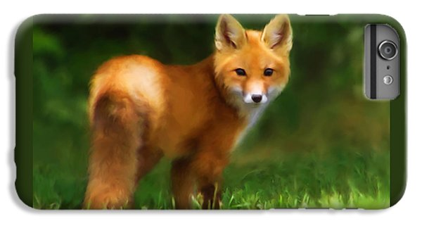 Fiery Fox IPhone 6 Plus Case by Christina Rollo