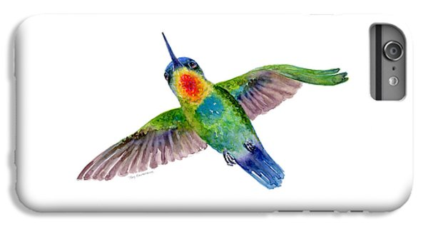 Fiery-throated Hummingbird IPhone 6 Plus Case by Amy Kirkpatrick
