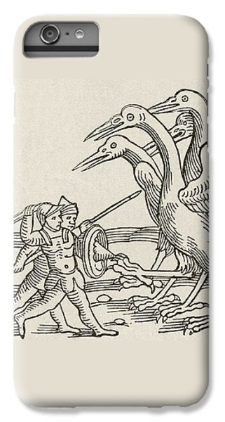 Fight Between Pygmies And Cranes. A Story From Greek Mythology IPhone 6 Plus Case by English School