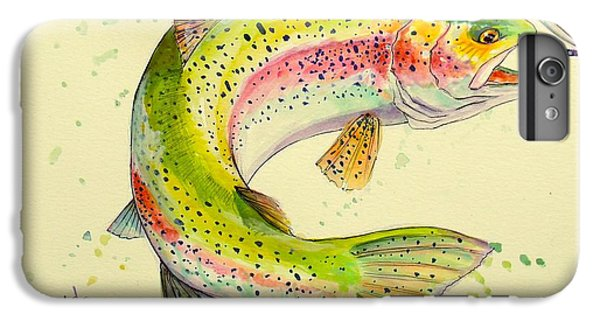 Salmon iPhone 6 Plus Case - Fish After Dragon by Yusniel Santos
