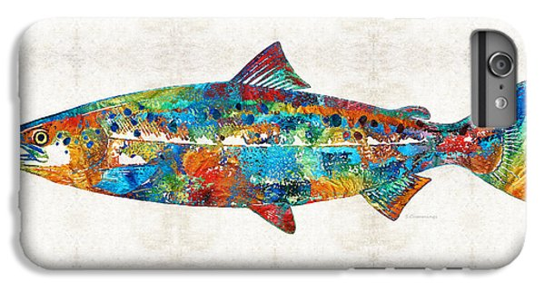 Fish Art Print - Colorful Salmon - By Sharon Cummings IPhone 6 Plus Case by Sharon Cummings