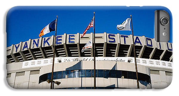 Flags In Front Of A Stadium, Yankee IPhone 6 Plus Case by Panoramic Images