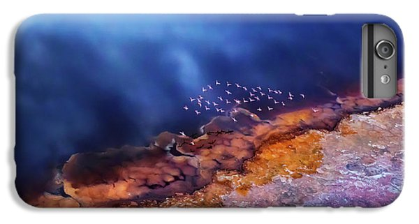 Africa iPhone 6 Plus Case - Flamingo Fly Over The Lake by Phillip Chang