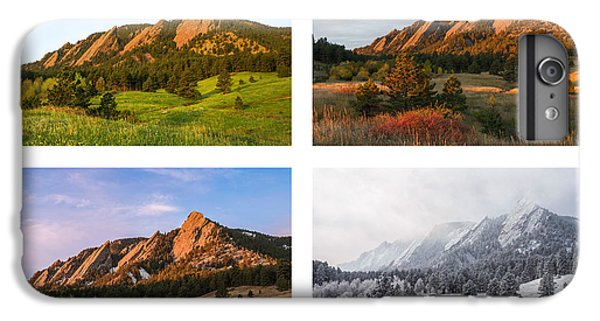 Flatirons Four Seasons With Border IPhone 6 Plus Case