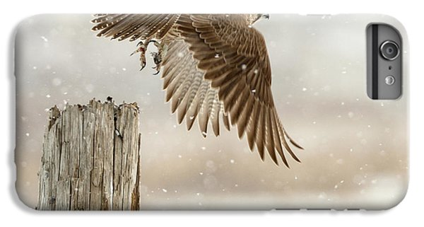 Falcon iPhone 6 Plus Case - Flight Against The Snowstorm by Osamu Asami