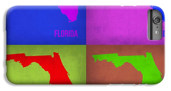Florida Pop Art Map 1 IPhone 6 Plus Case by Naxart Studio