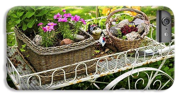 Garden iPhone 6 Plus Case - Flower Cart In Garden by Elena Elisseeva