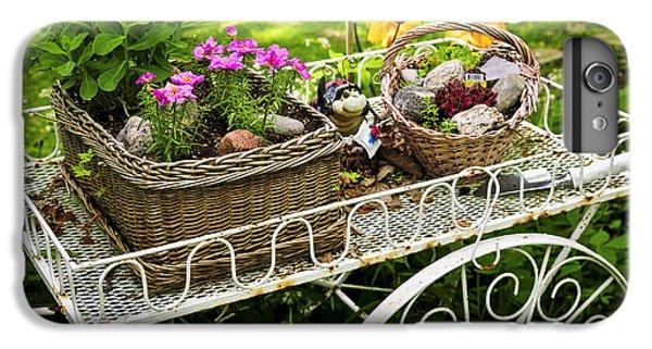 Flower Cart In Garden IPhone 6 Plus Case by Elena Elisseeva