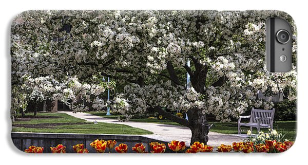 Flowers And Bench At Michigan State University  IPhone 6 Plus Case by John McGraw