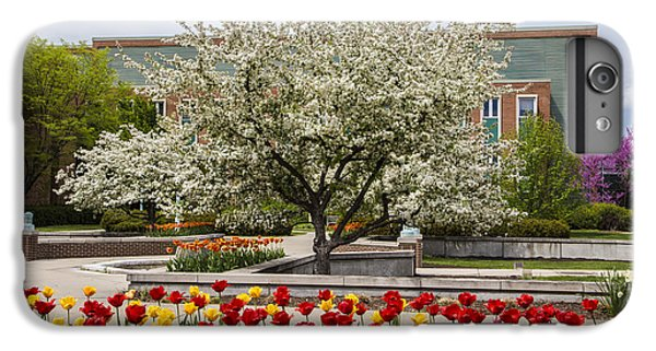 Flowers And Tree At Michigan State University  IPhone 6 Plus Case by John McGraw