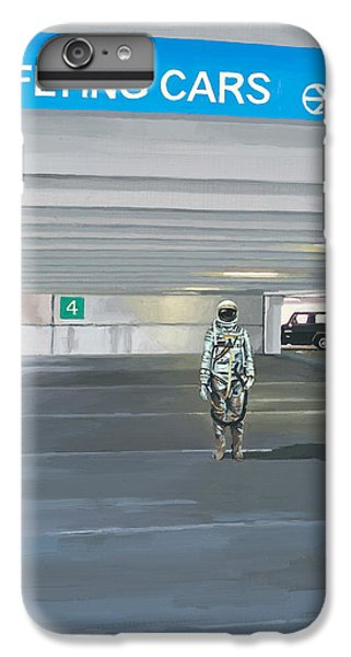 IPhone 6 Plus Case featuring the painting Flying Cars To The Right by Scott Listfield
