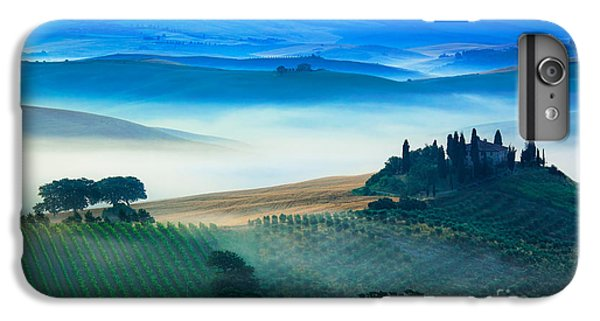 Scenic iPhone 6 Plus Case - Fog In Tuscan Valley by Inge Johnsson