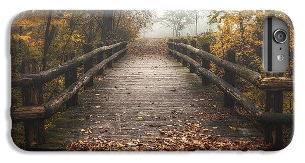 Nature Trail iPhone 6 Plus Case - Foggy Lake Park Footbridge by Scott Norris