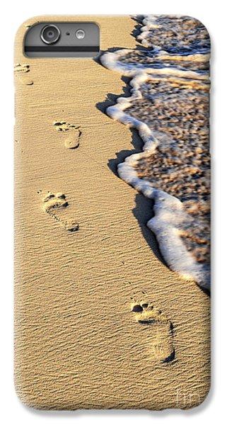 Beach iPhone 6 Plus Case - Footprints On Beach by Elena Elisseeva