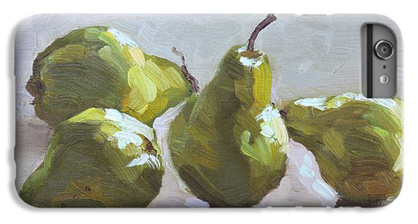 Pear iPhone 6 Plus Case - Four Pears by Ylli Haruni
