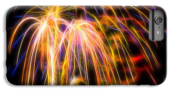 IPhone 6 Plus Case featuring the photograph Colorful Fractal Fireworks #1 by Yulia Kazansky