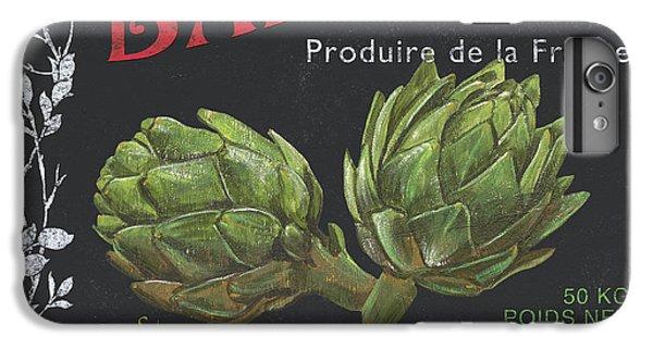 Artichoke iPhone 6 Plus Case - French Veggie Labels 1 by Debbie DeWitt