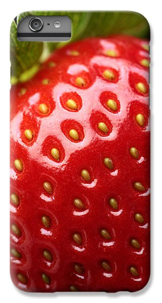 Strawberry iPhone 6 Plus Case - Fresh Strawberry Close-up by Johan Swanepoel