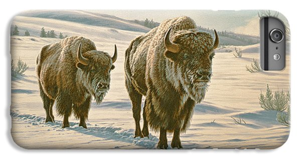 Frosty Morning - Buffalo IPhone 6 Plus Case by Paul Krapf