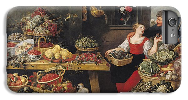 Cauliflower iPhone 6 Plus Case - Fruit And Vegetable Market Oil On Canvas by Frans Snyders