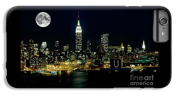 Full Moon Rising - New York City IPhone 6 Plus Case by Anthony Sacco