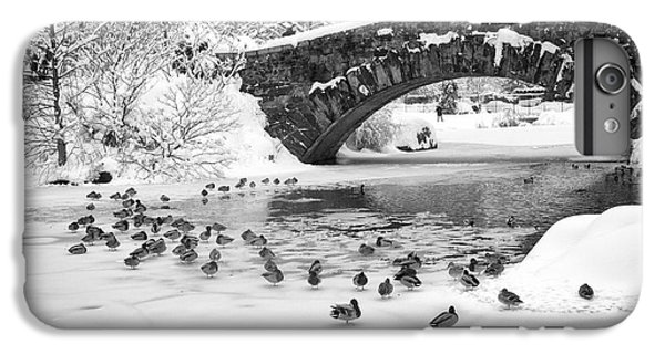 IPhone 6 Plus Case featuring the photograph Gapstow Bridge In Snow by Dave Beckerman