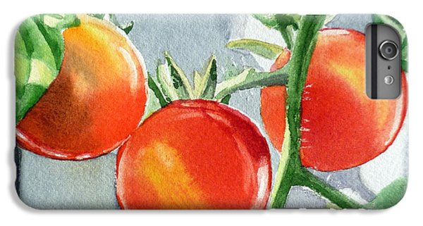 Garden Cherry Tomatoes  IPhone 6 Plus Case by Irina Sztukowski