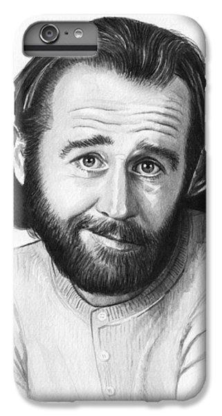 George Carlin Portrait IPhone 6 Plus Case by Olga Shvartsur