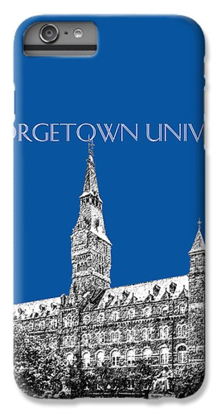 Georgetown University - Royal Blue IPhone 6 Plus Case by DB Artist