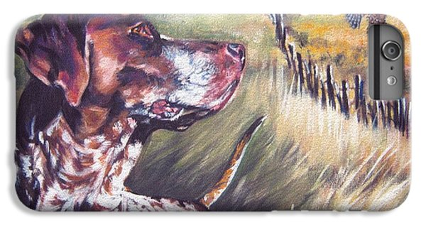 Pheasant iPhone 6 Plus Case - German Shorthaired Pointer And Pheasants by Lee Ann Shepard