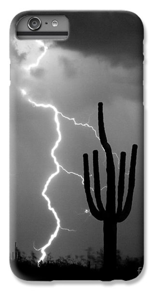 Giant Saguaro Cactus Lightning Strike Bw IPhone 6 Plus Case