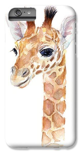 Giraffe Watercolor IPhone 6 Plus Case