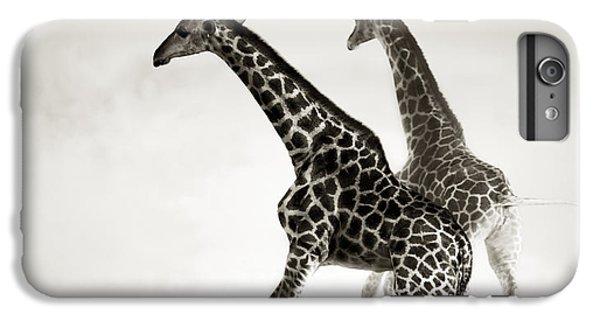 Giraffes Fleeing IPhone 6 Plus Case by Johan Swanepoel