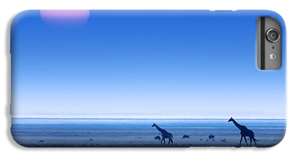 Giraffes On Salt Pans Of Etosha IPhone 6 Plus Case