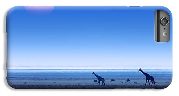 Giraffes On Salt Pans Of Etosha IPhone 6 Plus Case by Johan Swanepoel