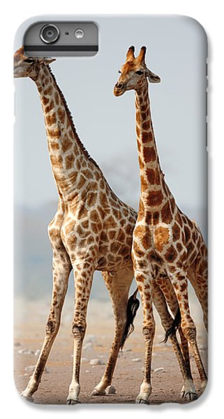 Giraffes Standing Together IPhone 6 Plus Case by Johan Swanepoel