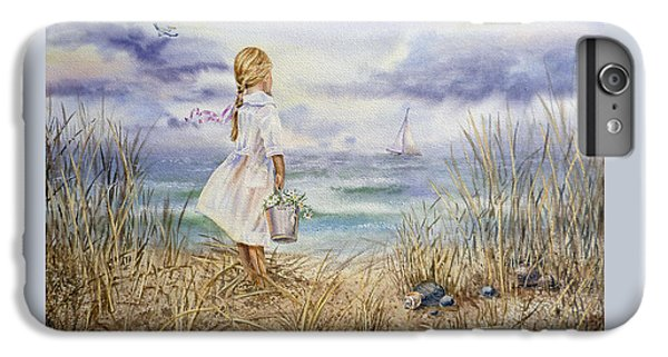 Girl At The Ocean IPhone 6 Plus Case by Irina Sztukowski