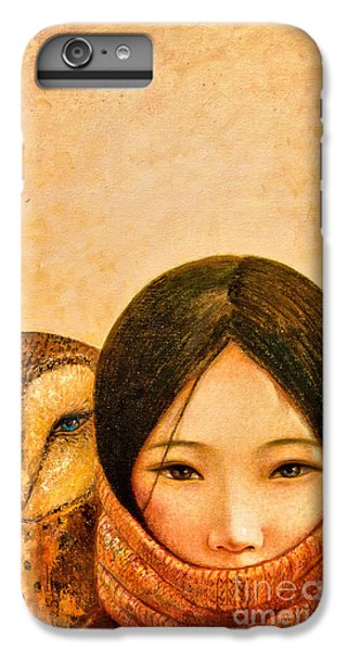 Owl iPhone 6 Plus Case - Girl With Owl by Shijun Munns