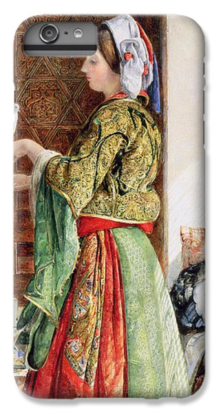 Girl With Two Caged Doves, Cairo, 1864 IPhone 6 Plus Case by John Frederick Lewis